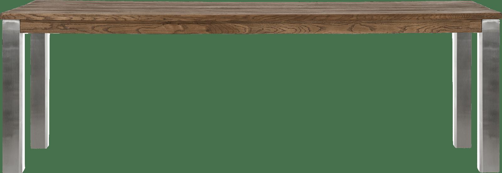 Masters - tresentisch 240 x 100 cm - edelstahl 9x9