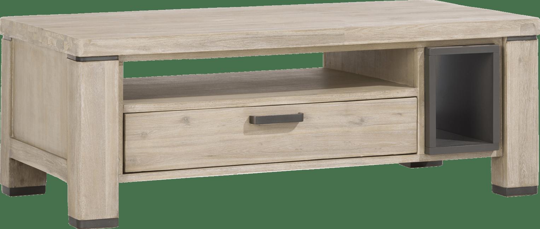 Coiba - salontafel 125 x 60 cm + 1-lade t&t + 2-niches