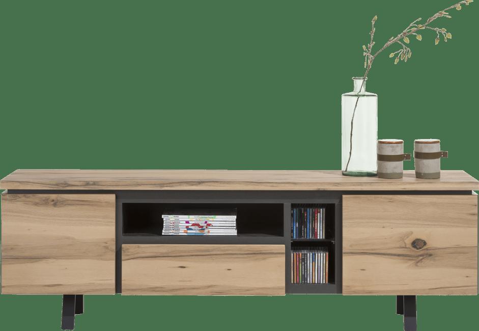 Myland - lowboard 190 cm - 2-portes + 1-tiroir + 3-niches