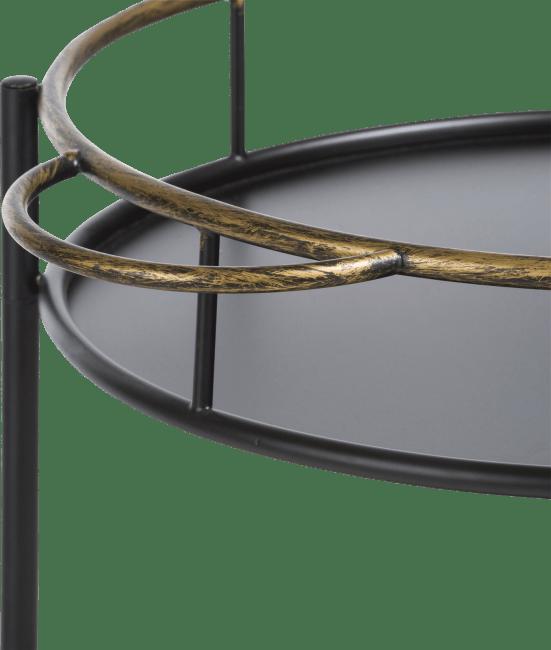 Coco Maison - bar trolley sandra - schwarz