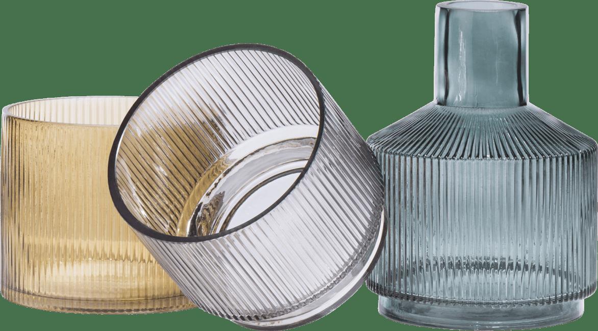 Coco Maison - 3 vases abigail - vert / gris / ambre combi