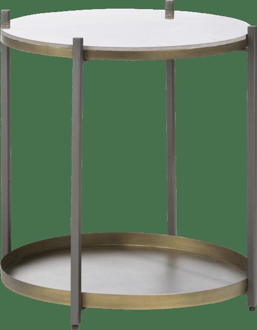 Coco Maison - bijzettafel ballito - metaal & keramiek - rond 45 cm