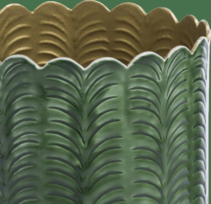 Coco Maison - vase agata - aluminium - vert