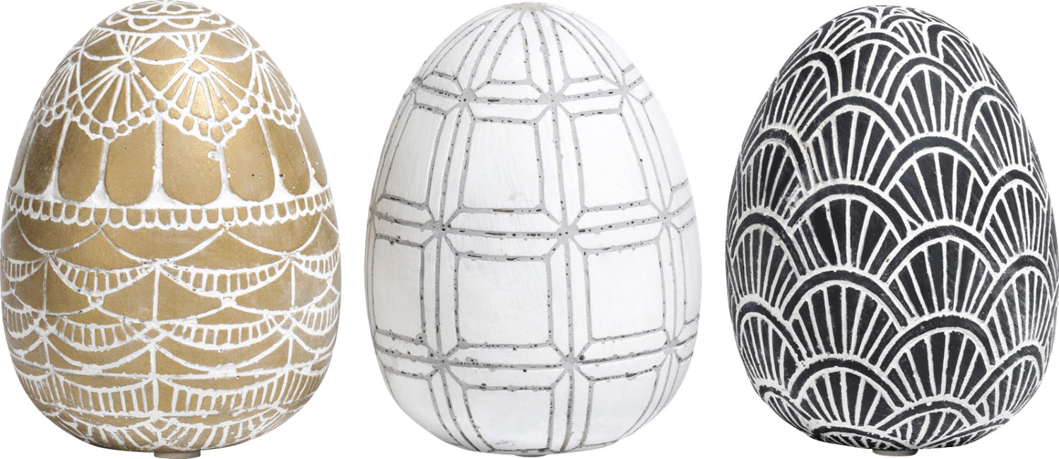 Coco Maison - 3 ostereier easter eggs large - multicolour