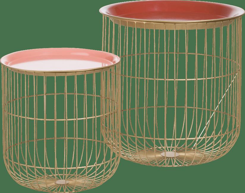 Coco Maison - 2 beistelltischen dana - rot & rosa