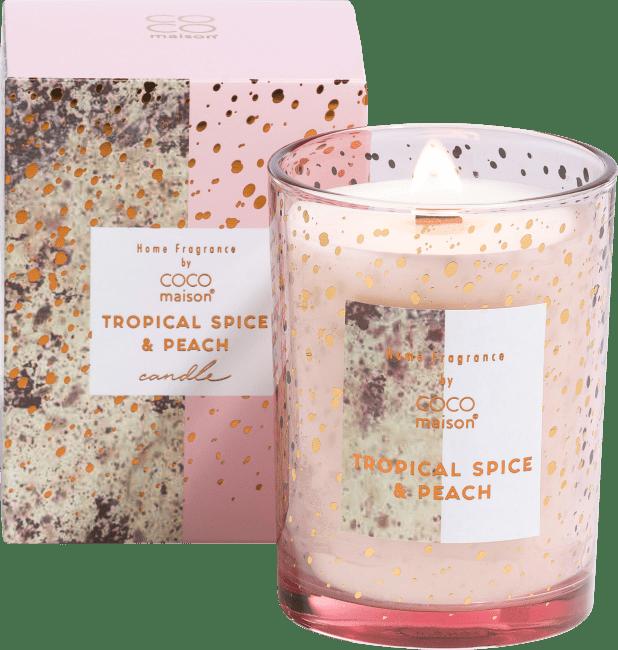 Coco Maison - geurkaars tropical spice & peach