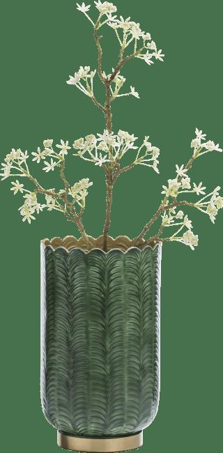 Coco Maison - vaas agata - aluminium - groen