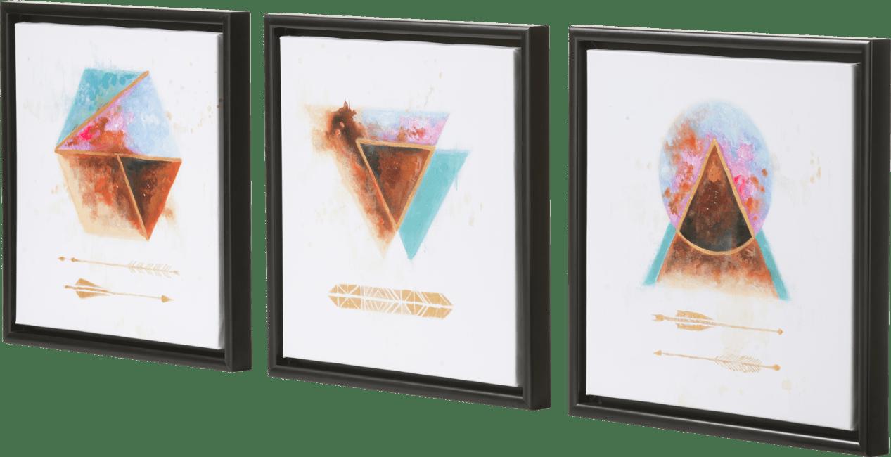 Coco Maison - peinture a dream - ensemble de 3 - 45 x 45 cm