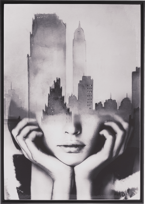Coco Maison - schilderij cityline - 74 x 104 cm