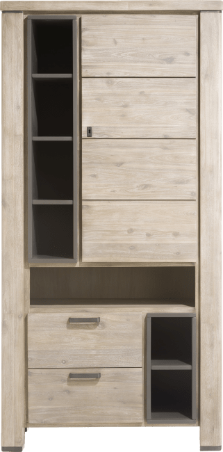 Coiba - bergkast 1-deur + 2-laden + 7-niches
