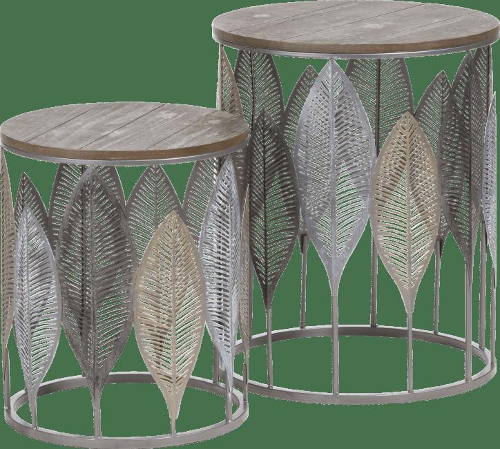 Coco Maison - 2 beistelltischen charles - braun