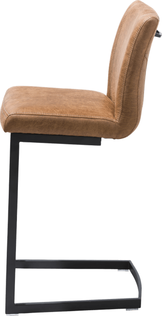 Sofie - barstoel - zwart swing recht - greep recht