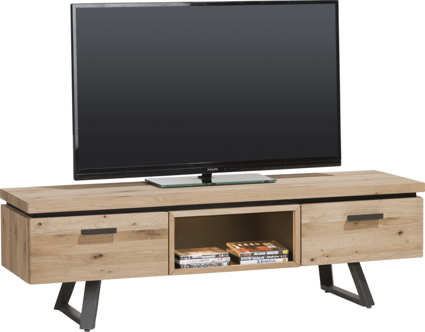 Larissa - tv-dressoir 150 cm - 1-lade + 1-klep + 1-niche (+ led)