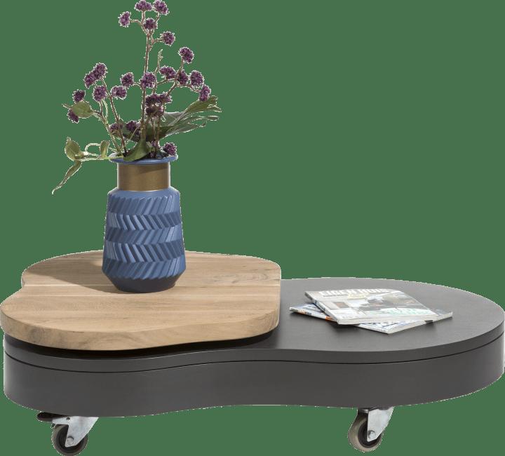 Cladio - salontafel met draaitop 110 x 80 cm