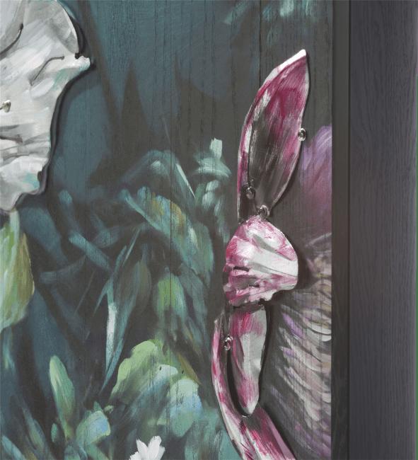 Coco Maison - schilderij met metaal bouquet - 73 x 90 cm