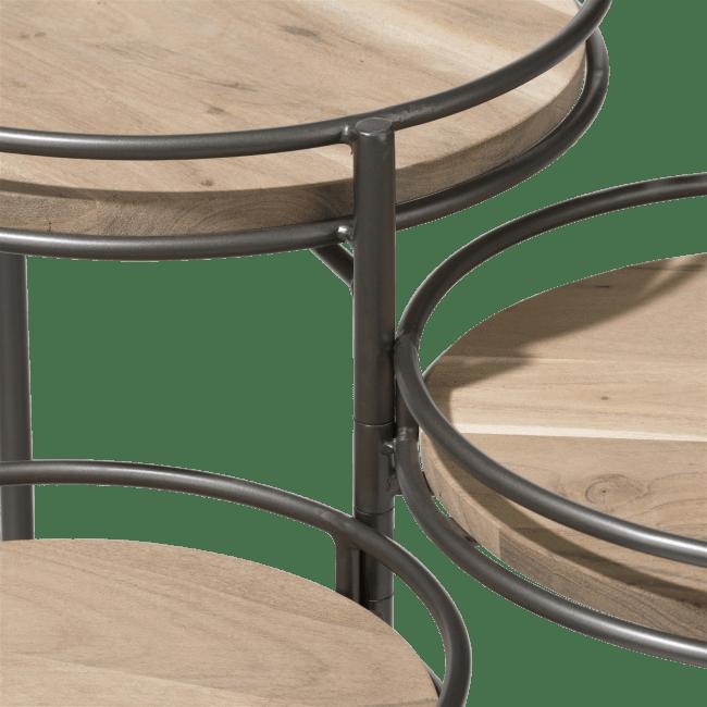 Coco Maison - table d'appoint indira - ensemble de 3