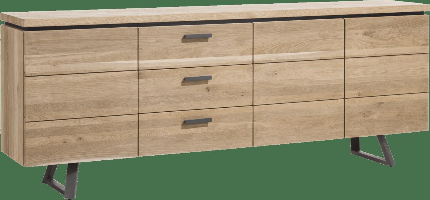 Larissa - dressoir 220 cm - 3-deuren + 3-laden