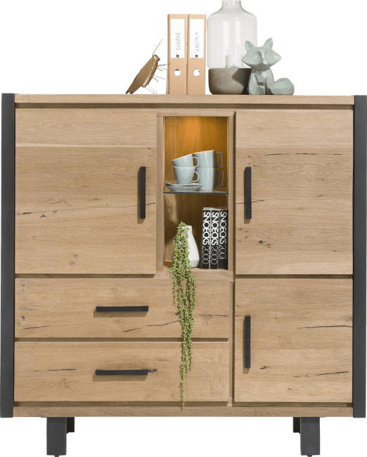 Brooklyn - highboard 3-deuren + 2-laden + 2-niches (+ led)