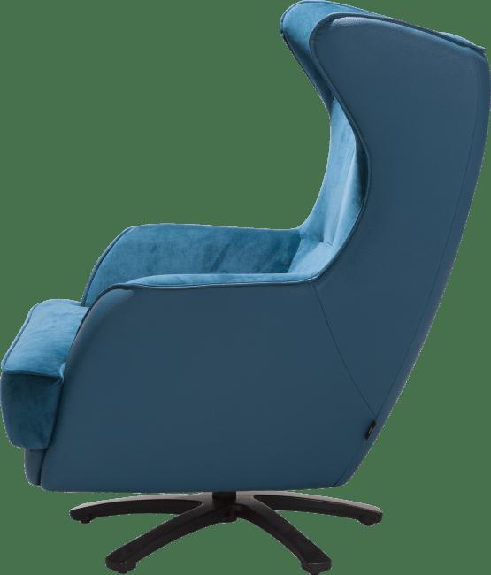 Avatoon - fauteuil met ster-draaivoet in rvs of zwart