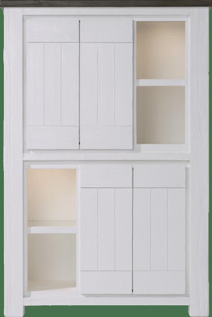 Deaumain - bergkast 4-deuren + 4-niches - 110 cm ( + halogeen)