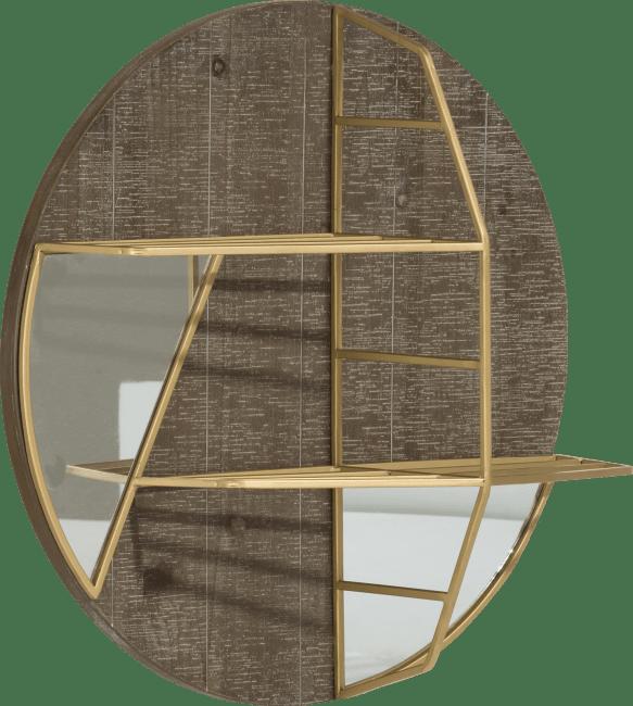 Coco Maison - wandplank & spiegel amy - diameter 55 cm