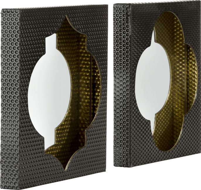 Coco Maison - 2 spiegel morocco - 40 x 40 cm
