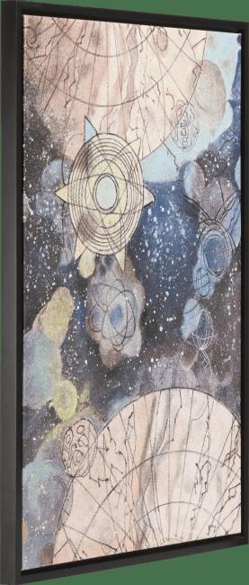 Coco Maison - schilderij space - 74 x 104 cm - zwart frame