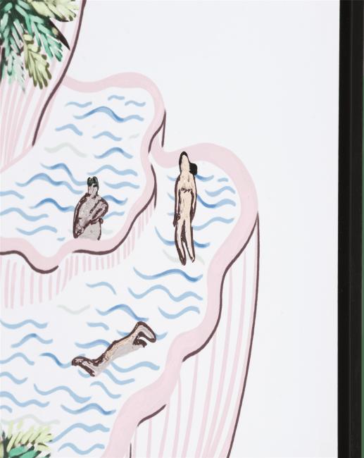 Coco Maison - schilderij hanging gardens - 70 x 90 cm - zwart frame