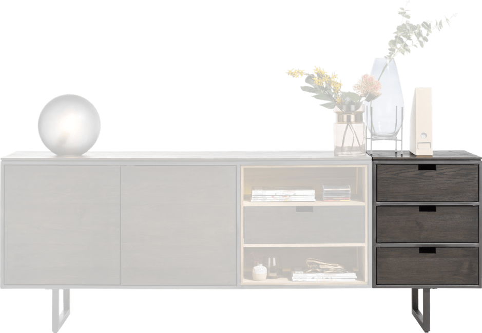 Moniz - parti attacher buffet 50 cm - 3 tiroirs reversibles