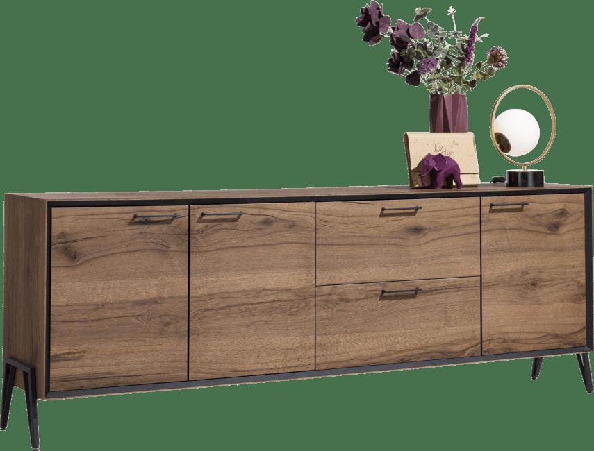 Janella - dressoir 240 cm - 3-deuren + 2-laden (hoogte 88 cm)