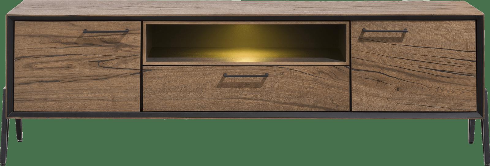 Janella - lowboard 180 cm - 2-deuren + 1-lade + 1-niche (+ led)