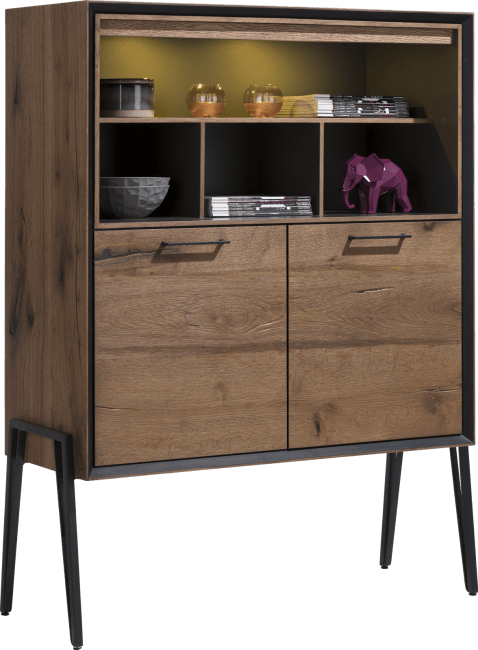Janella - highboard 2-deuren + 4-niches (hoog op poten)(+ led)