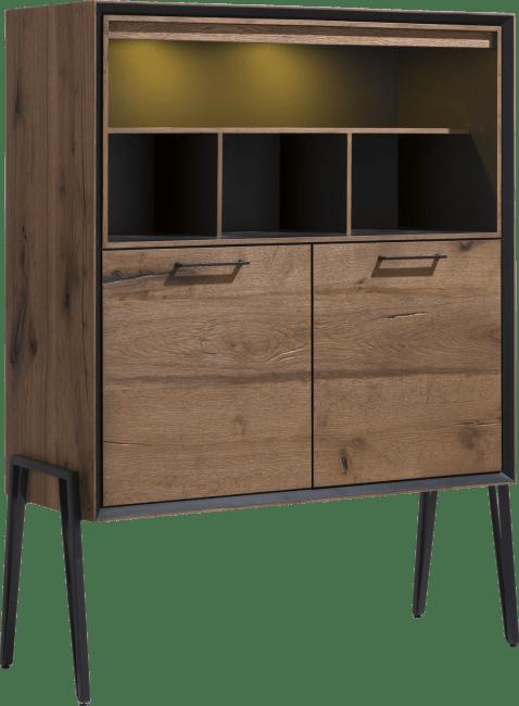 Janella - highboard 2-deuren + 4-niches (hoog op poten)(+ led)