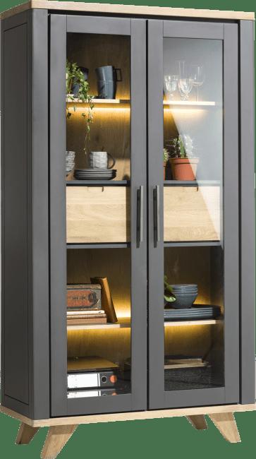 Jardin - vitrine 110 cm - 2-portes en verre + 2-tiroirs (dedans) (+ led)