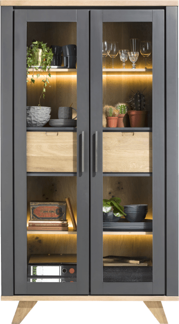 Jardin - vitrine 110 cm - 2-glastueren + 2-laden (innen) (+ led)