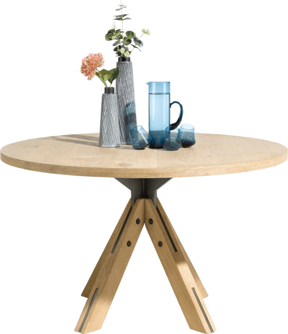 Table Ronde 130 Cm.Jardino Table Ronde 130 Cm Pied Central