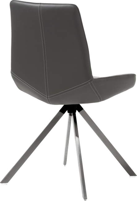 Levi - stuhl - 4 fuesse edelstahl gerade - catania leder