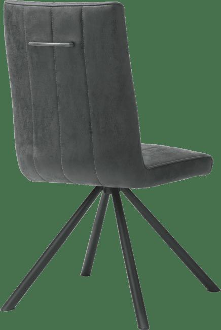 Elza - eetkamerstoel - 4-poot zwart - stof calabria 4 kleuren