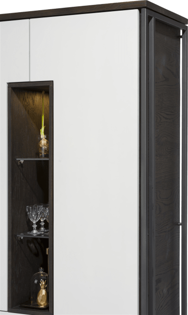 Glasgow - armoire 100 cm - 2-portes + 2-tiroirs + 3-niches (+ led)