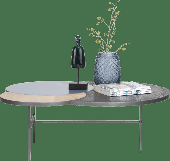 Glasgow - table basse 3-plateaux - 110 x 85 cm