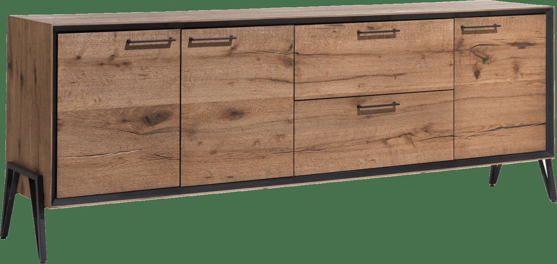 Janella - dressoir 210 cm - 3-deuren + 2-laden