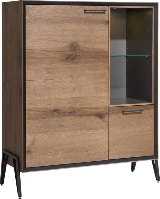 Janella - highboard 115 cm - 1-deur + 1-lade + 2-niches ( +led)