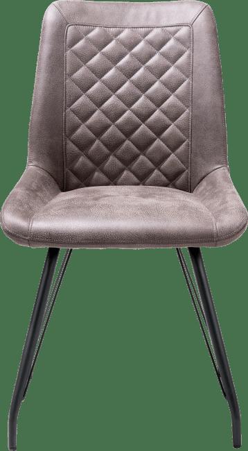 Lena - chaise 4-pieds noir + poignee - tissu rocky