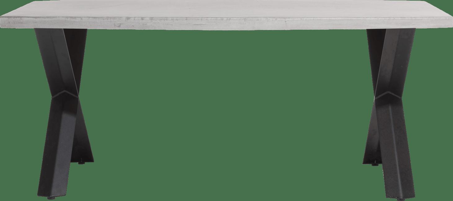 Maddox - table 190 x 100 cm - beton - pied forme x