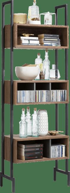 Halmstad - bookcase 70 cm - 6-niches