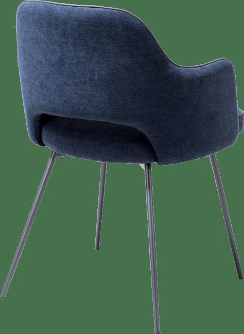 Benton - fauteuil + cadre graphite - tissu monta +passepoil tatra anthracite