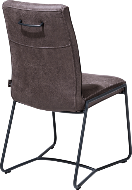 Donna - chaise - cadre off black - poignee noir rond + rocky lava