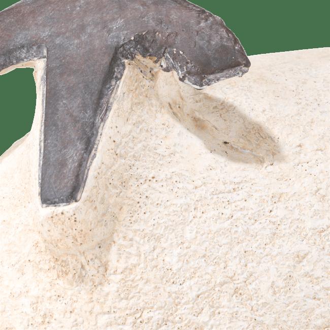 Coco Maison - beeld schaap h41cm wit polyresin