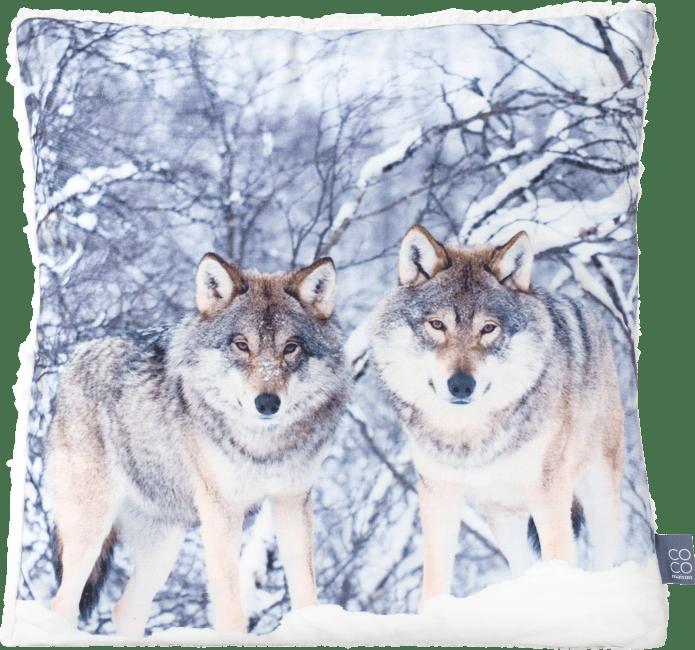 Coco Maison - kissen winter wolf - 45 x 45 cm