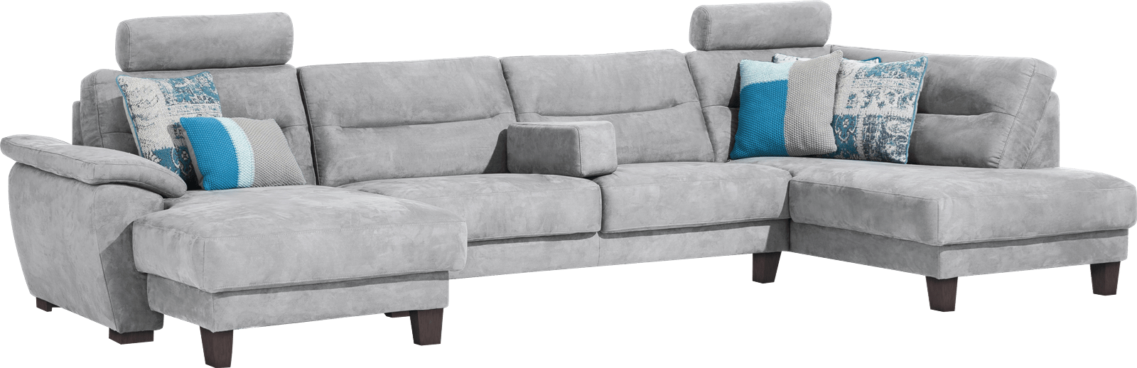 Palio - longchair links + 2-zits zonder armen + ottomane rechts
